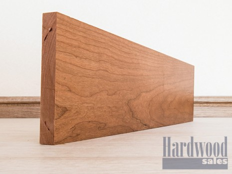 Planed All Round Solid Cherry Timber Skirting