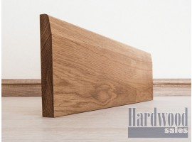 Chamfered Solid Oak American White Timber Skirting