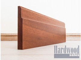 Lambs Tongue Solid Mahogany (Sapele) Timber Skirting