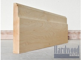 Lambs Tongue Solid Hard American Maple Timber Skirting