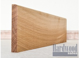 Round Edge Solid European Oak Timber Skirting
