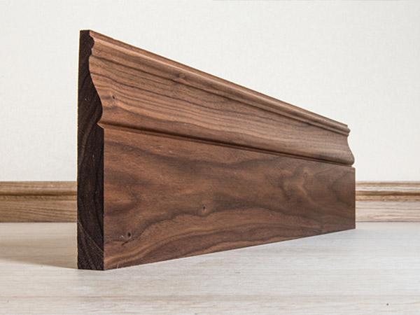 Solid Black Walnut skirting boards
